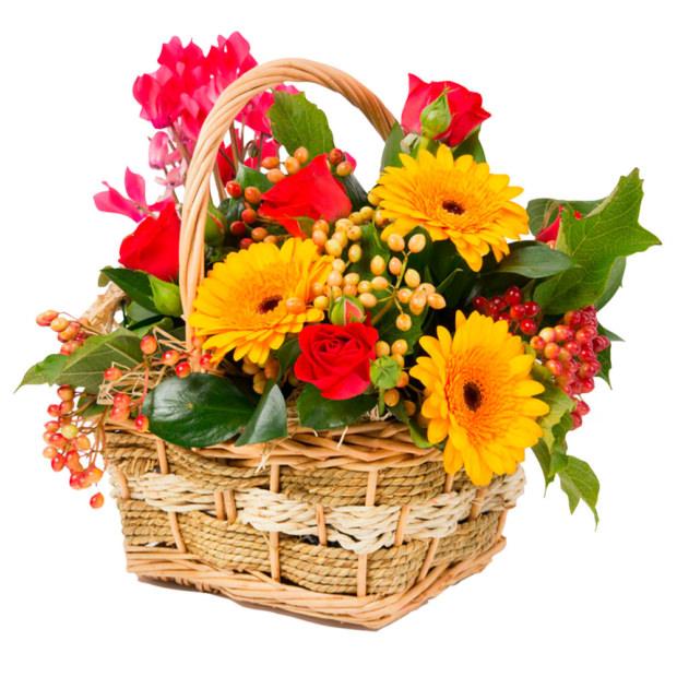 """Цветы в корзинке """"Лучезарный"""""""